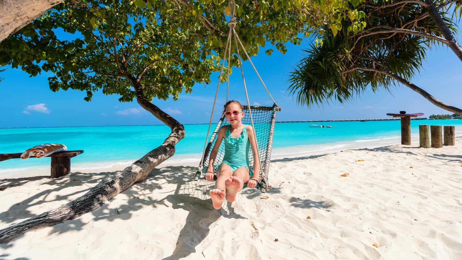 Child in the Maldives