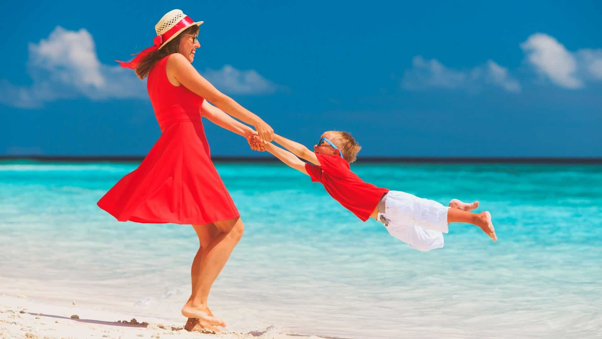 What can a child do in the Maldives?