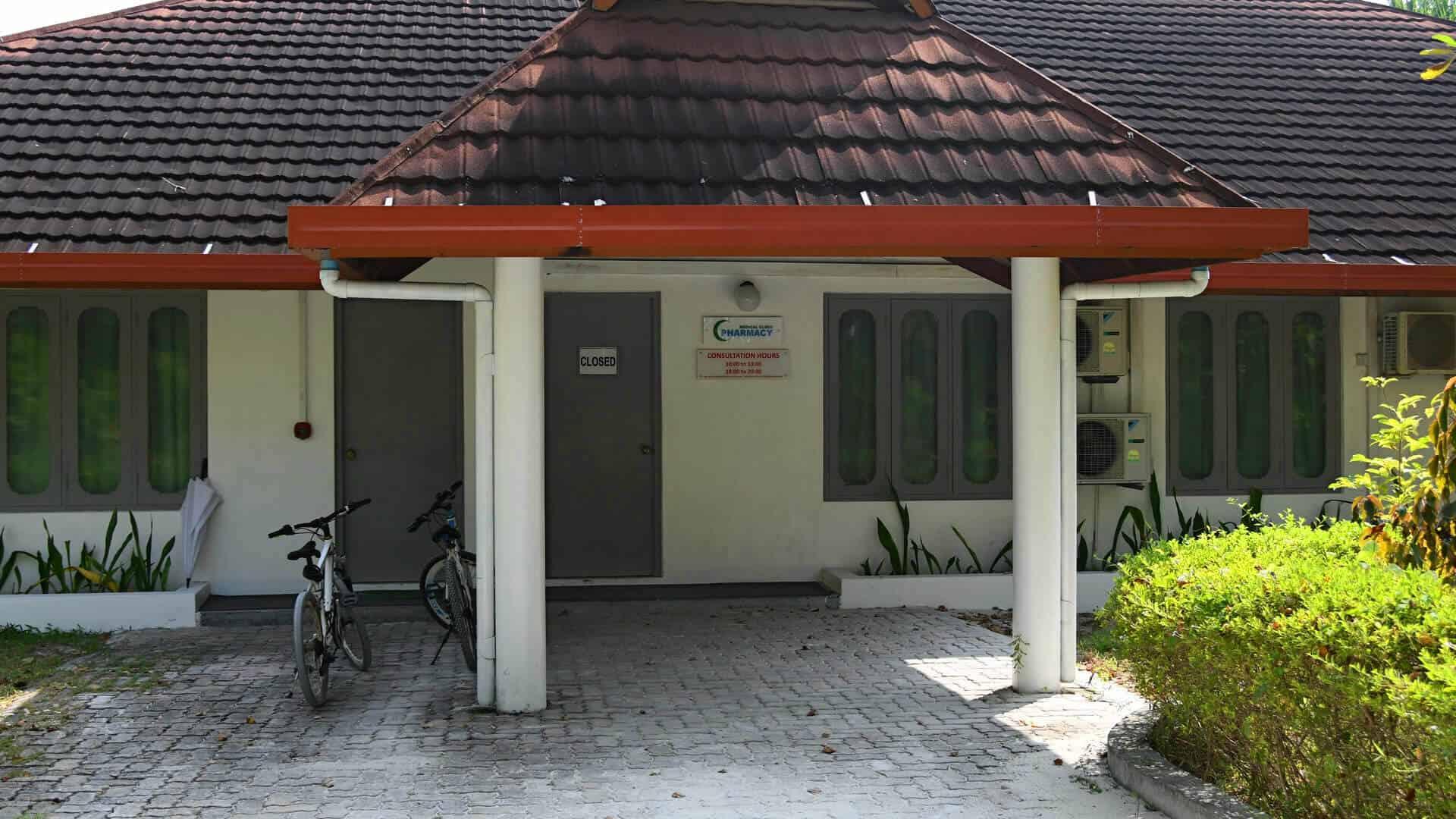 больница на одном из островов резортов